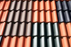 Farbige Dachpfannen
